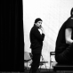 "Oskaras Koršunovas ir Paulina Andrejeva (Nina Zarečnaja) spektaklio ""Žuvėdra"" repeticijoje. A. Kremer-Khomassouridze nuotr."