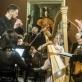 Vytautas Sriubikis, Joana Daunytė, Robertas Šervenikas ir Lietuvos kamerinis orkestras. D. Matvejevo nuotr.