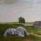 """Darius Bastys, """"Miegantis ar miręs dramblys lietuviško peizažo fone"""" (K. Alchimavičiaus paveikslo motyvais). 2017 m. Autoriaus nuotr."""