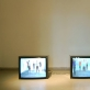 "Videodarbų ""Move movie"" ir  ""Move movie I"" ekspozicijos fragmentas"