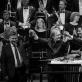 Česlovas Radžiūnas, Robertas Šervenikas, Petras Bingelis ir Lietuvos nacionalinis simfoninis orkestras. M. Aleksos nuotr.