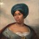 "Eugène Delacroix, ""Moters mėlynu turbanu portretas"". 1827 m."