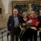 Gocentų šeima po koncerto. Nuotrauka iš asmeninio archyvo