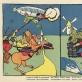 """Vladimiras Majakovskis (tekstas ir piešinys), plakatas """"Skrido virš Varšuvos vokietis ryžas, gauruotas, bet kazokas Danila Laukinis dūrė ietimi, ir jo žmona Polina dabar siuva kelnes iš cepelino"""", 1914 m., leidykla """"Segoniašnij lubok"""", Maskva. Mokslų akademijos Vrublevskių biblioteka"""