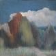"""Juozapas Miliūnas, """"Medžiai ir baltas debesis"""""""