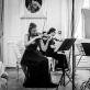 """Fortepijoninis trio """"Meta"""": Marija Pranskutė, Julija Bagdonavičiūtė ir Deividas Dumčius. Ansamblio archyvo nuotr."""