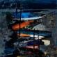 """Jonas Švažas, """"Žvejų laiveliai"""". 1968 m."""