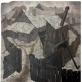 Walenty Romanowicz (1911–1945). Peizažas. Namukai Vilniuje. XX a. 4 deš. Fanera, aliejus, 65x65. Vilniaus dailės akademijos muziejus