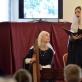 Angelų giesmės Šv. Cecilijai. Ieva Baublytė ir Beatričė Baltrušaitytė-Urmilevičienė. V. Abramausko nuotr.