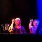 """Bartosz Roch Nowicki, Darius Meškauskas ir Maciej Maciejewski spektaklyje """"Tarp Lenos kojų, arba """"Švenčiausiosios Mergelės Marijos mirtis"""" pagal Mikelandželą Karavadžą"""". D. Matvejevo nuotr."""