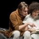 """Denisas Kolomyckis ir Nelė Savičenko pjesės """"Melancholija ir demonstracijos"""" skaityme. D. Matvejevo nuotr."""