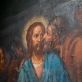 """Juozapas Balzukevičius (1866–1915) ir nežinomas XX a. I pusės dailininkas, IV stoties paveikslas """"Jėzus sugavimo vietoje""""; fragmentas: """"Judo pabučiavimas"""", Vilniaus Šv. Kryžiaus Atradimo (Kalvarijų) bažnyčia"""