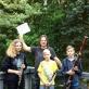 Artūras Mikoliūnas su vasaros muzikos kursų moksleiviais. Asm. archyvo nuotr.