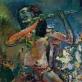 """Algis Skačkauskas, """"Fleitistė"""" (fragmentas). 1991 m. Lewben Art Foundation"""