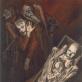 """Aliutė Mečys, """"Kompozicija su autoportretu dėžėje ir Ligeti"""". 1983 m."""