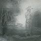 """Algirdas Dovydėnas, fragmentas iš keturiolikos vitražų ciklo """"Kryžiaus kelio stotys"""", Švč. Mergelės Marijos Krikščionių Pagalbos bažnyčia Nidoje"""