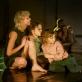 """Scena iš spektaklio """"Noriu maitinančios dienos iš tavo rankų"""". S. Baturos nuotr."""