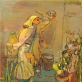 Vienas paskutinių Algio Skačkausko paveikslų. G. Zinkevičiaus nuotr.
