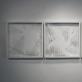 """Danas Aleksa, """"Iš...ti langai"""", parodos fragmentas: """"Lango šukės, Subačiaus g. 26, Aukštaičių g. 3, Subačiaus g. 26"""". 2016 m. A. Narušytės nuotr."""