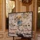 Laisvydės Šalčiūtės paveikslas, eksponuojamas Mantujos kunigaikščių rūmų galerijoje. Autoriaus nuotr.