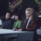 "Raivo E. Tamm (Toomas), Liina Vahtrik (Andrea) ir Mari Abel (Berta) teatro seriale ""Jaik"". Von Krahlio teatro nuotr."