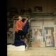 """Scena iš spektaklio """"Latviška meilė"""". G. Mālderio nuotr."""