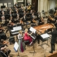 """Trio """"Kaskados"""", Modestas Pitrėnas ir Nacionalinis simfoninis orkestras. D. Matvejevo nuotr."""