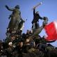 Demonstracijos Paryžiuje sausio 11 d. vaizdas