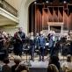 Juozas Domarkas ir visi koncerto atlikėjai. D. Matvejevo nuotr.