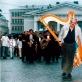 """Po """"Pietos"""" atlikimo 1998 m. Nuotr. iš asmeninio A. Martinaičio archyvo"""