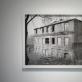 """Danas Aleksa, """"Iš...ti langai"""", parodos fragmentas: """"Pastato eksterjeras, Vileišio g. 14A"""". 2016 m. A. Narušytės nuotr."""