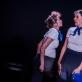 """Justė Liaugaudė ir Indrė Mickevičiūtė-Petrauskienė pasirodyme """"Skrydis"""". D. Putino nuotr."""