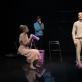 """Roberta Sirgedaitė, Arnas Ašmonas ir Raimondas Klezys spektaklyje """"SoDra, Mon Amour"""". D. Ališausko nuotr."""