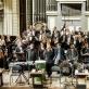 """Ch. Lyndon-Gee, Davidas Langas, """"Sō Percussion"""", Lietuvos nacionalinis simfoninis orkestras. D. Matvejevo nuotr."""