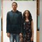 """Algirdas ir Remigijus Gataveckai, """"Dzetaveckai"""". 2014 m., popierius, pastelė, sangvinas, anglis, 194x102 cm., Modernaus meno centro nuosavybė"""