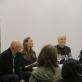 """Meninio projekto naujos geros """"Titaniko"""" grindys pristatymas-diskusija spalio 27 d. Dalyvauja: Deimantas Narkevičius, Eglė Grėbliauskaitė, Laima Kreivytė, Nerijus Milerius."""