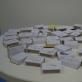 """Lankytojų piešiniai ant """"IKI"""" degtukų dėžučių. K. Rimkutės nuotr."""