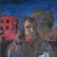 """Algis Skačkauskas, """"Pasivaikščiojimas su vaiku"""". 1982 m. Vidmanto Martikonio kolekcija"""