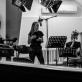 """Gelminė Glemžaitė ir Laurynas Jurgelis audioserialo """"Šiaurės miestelis"""" įrašų studijoje. J. Kulevičiūtės nuotr."""