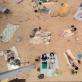"""Scena iš operos-performanso """"Saulė ir jūra (Marina)"""" Tarptautinėje Venecijos meno bienalėje. A. Vasilenko nuotr."""