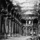 """Jules Andrieu, """"Karo nelaimės: Miesto viešbutis, pokylių salė"""". 1871 m."""