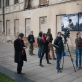 """Projektas """"Padaryti pataisymai"""" Kauno mieste, Davidas Ellisas kalbasi su žurnalistasis. 2014 m. V. Katinaitytės nuotr."""