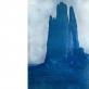 """Geistė Marija Kinčinaitytė, iš ciklo """"Tu priklausai man"""". William Henry Jackson (1878-1898), """"Dievų sodo Babelio bokšto vaizdas"""", cianotipas. 2015 m."""