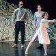 """Darius Berulis, Aušra Krasauskaitė ir Julija Stankevičiūtė šokio spektaklyje """"Eglė žalčių karalienė"""". M. Aleksos nuotr."""
