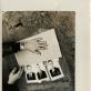 """Linas Liandzbergis, Herkus Kunčius, fotografijų serijos """"Sekretai"""" fragmentas, performanso dokumentacija. 1989 m. D. Žuko nuotr."""