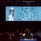 """Operos """"Vyras, kuris savo žmoną palaikė skrybėle"""" akimirka. Organizatorių nuotr."""