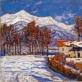 Petras Kalpokas, Pietinės Šveicarijos vaizdelis. 1915. Drobė, aliejus Nacionalinis M. K. Čiurlionio dailės muziejus