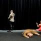 """Scena iš spektaklio """"Le Terrier"""" (Ola). D. Matvejevo nuotr."""
