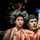 """Morta Narkauskaitė, Sean Patten ir Vladimiras Serovas spektaklyje """"Sukūrimas / Paveikslai Dorianui"""". D. Matvejevo nuotr."""