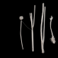 """Objektas """"Trys moterys paplūdimyje valgo muziką ir klauso duonos"""" (2011). Stručio kiaušinis, perdaryti buitiniai prietaisai, ausų kištukai, sidabras, elektros laidai. K. Kazlauskatės nuotr."""